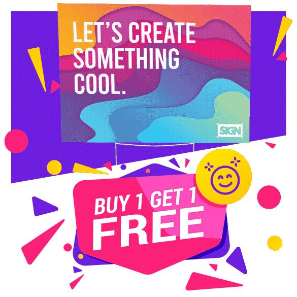 Buy 1 get 1 FREE Full Color Yard sign