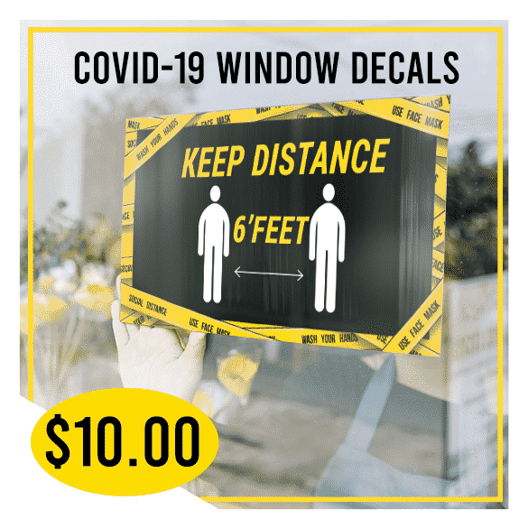 Covid-19 Window Decals