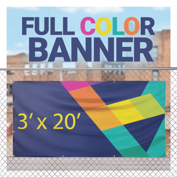 Full Color Banner 3' x 20'