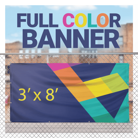 Full Color Banner 3' x 8'
