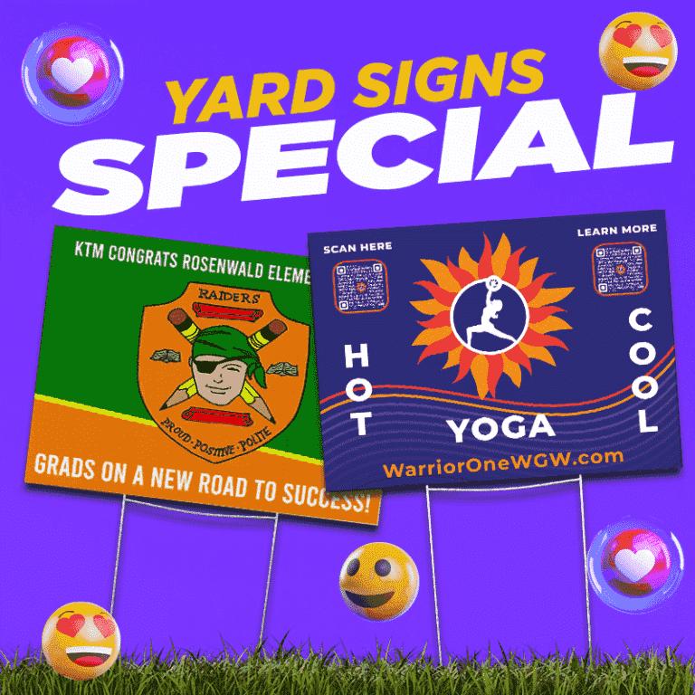 Yard Signs Specials